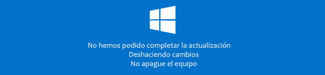 Error de actualización en Windows10